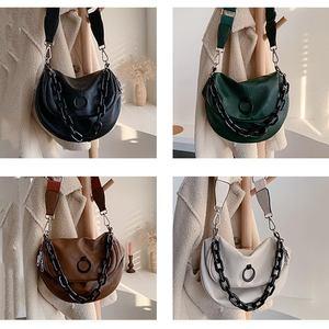 Image 3 - DIINOVIVO rétro sacs à main femmes sacs concepteur en cuir PU large sangle bandoulière sacs à bandoulière pour adolescentes fourre tout selle WHDV1407