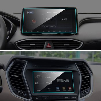 Car GPS Navigation Screen Protecter Touchscreen for Hyundai SantaFe 2013-19 Tempered Glass Protective Sticker Car Accessories image