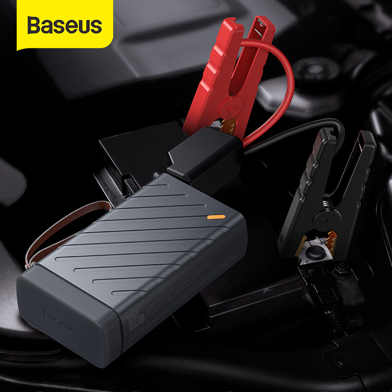 Baseus szybki rozruch samochodu urządzenie zapłonowe 16000mAh 12V skok Start Power Bank 220V 110V AC wyjście 1600A wzmacniacz do akumulatora samochodowego