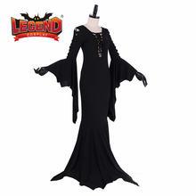 Женское платье в пол morticia addams готическое винтажное стиле