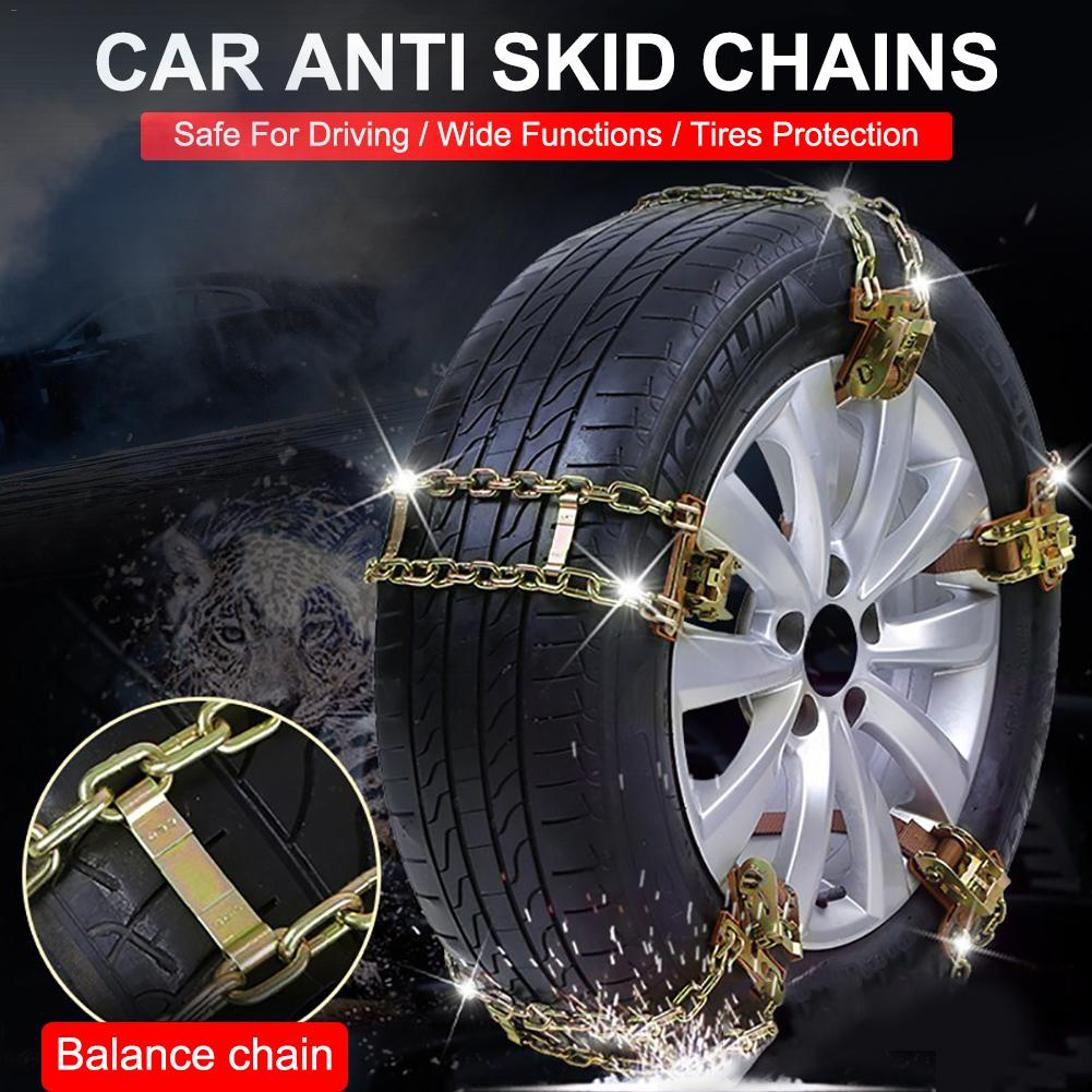 Winter Car Tire Chain Balancing Anti-slip Steel Chain Wear-resistant Car Chains for Ice Snow Mud Road Wheel Chain for Car SUV image