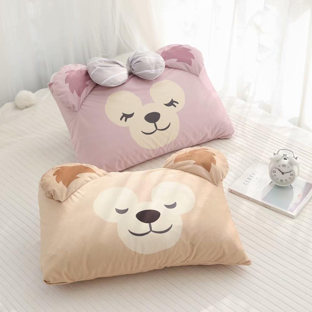 Candice Guo! Cute Plush Toy Cartoon Sweet Sleeping Duffy Shelliemay Soft Pillowcase Pillow Cover Birthday Christmas Gift 1pc