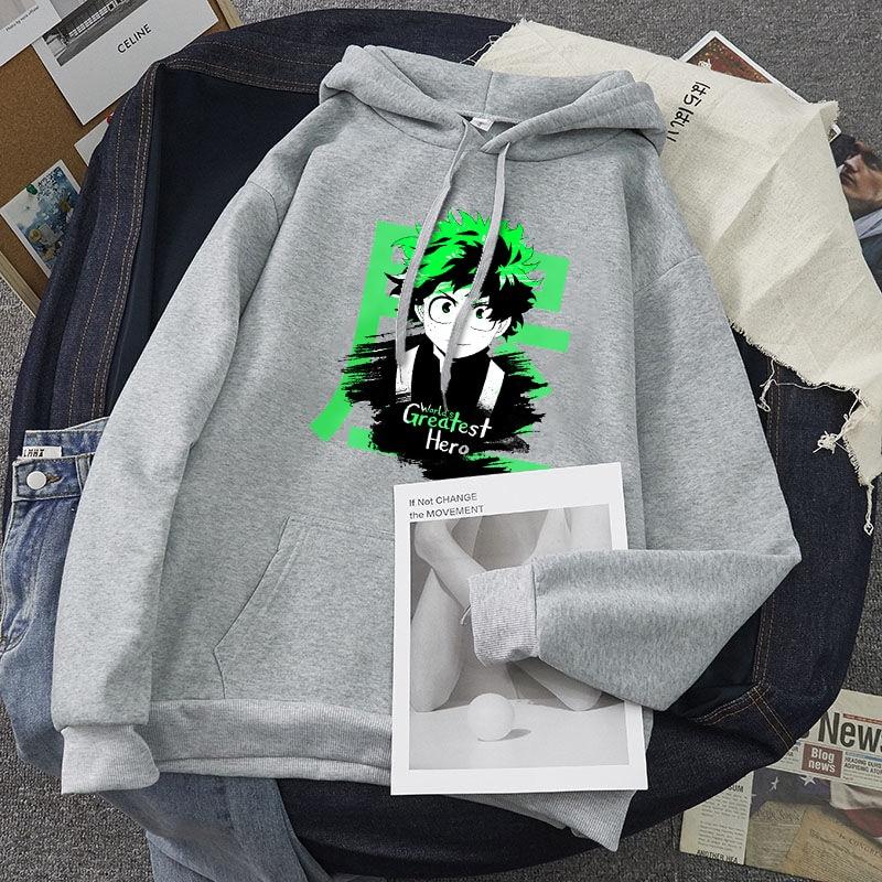 My hero academia hoodie Unisex The Worlds Greatest sweatshirt Harajuku Oversize loose fashion casual pullover hoodie Streetwear 18