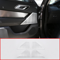 4pcs For Land rover Range Rover VELAR 2017 2018 2019 2020 Car Aluminum Alloy Door Speaker Cover Panel Trim Interior Accessories
