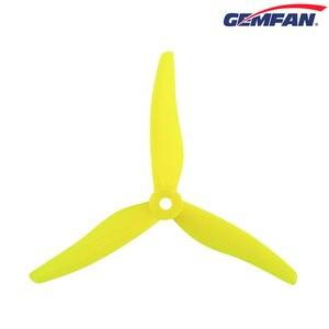 Image 4 - 24 adet/12 çift Gemfan 51466 5 inç 3 bıçak/tri blade pervane sahne CW CCW fırçasız motor FPV pervane FPV yarış drone için