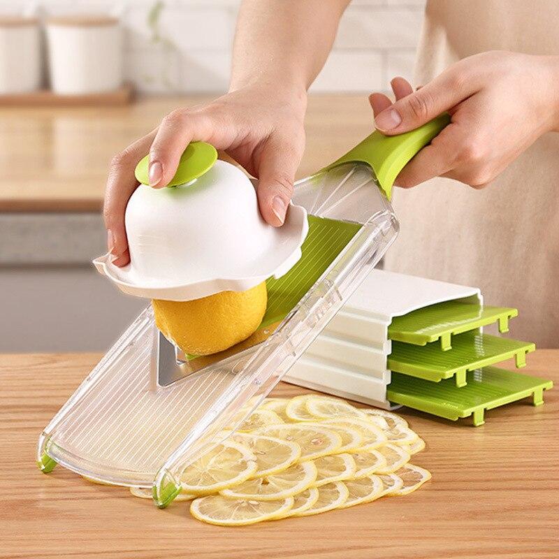 Flashing Products Lemon Slicer Ultra-Thin Lemon Cutter Lemon Grapefruit Orange Wipping Tissue Household Flaker Cut Lemon Maker