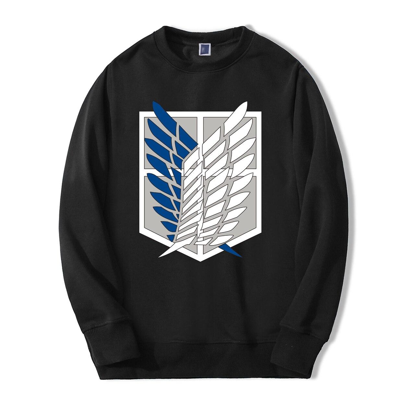 Japan Anime Attack On Titan Spring Winter Fleece Sweatshirt Men 2019 Fashion Hoodies Streetwear Casual Fleece Men's Sportswear