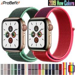 Bracelet pour Apple Watch série 3/2/1 38MM 42MM Nylon doux respirant remplacement bracelet Sport boucle pour iwatch série 4 5 40MM 44MM