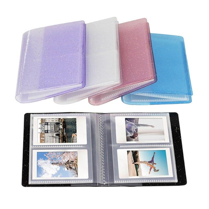 64 poches 3 pouces Quicksand Album Photo Mini étui Photo instantané organisateur de rangement pour Mini 11/9/8/8 + D23 20 livraison directe