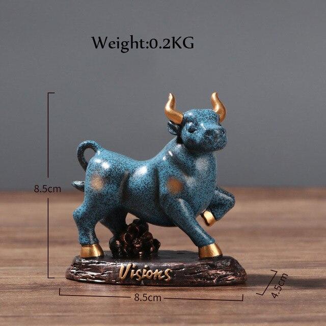 Купить статуэтка крупного рогатого скота бык домашний декор гостиная картинки цена