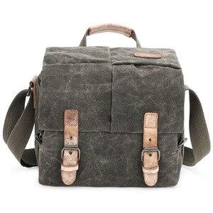 Image 5 - Vintage قماش التصوير حقيبة الكتف الرافعة SLR كاميرا حمل حقيبة سفر صغيرة عادية رسول حقائب Nikon سوني كانون