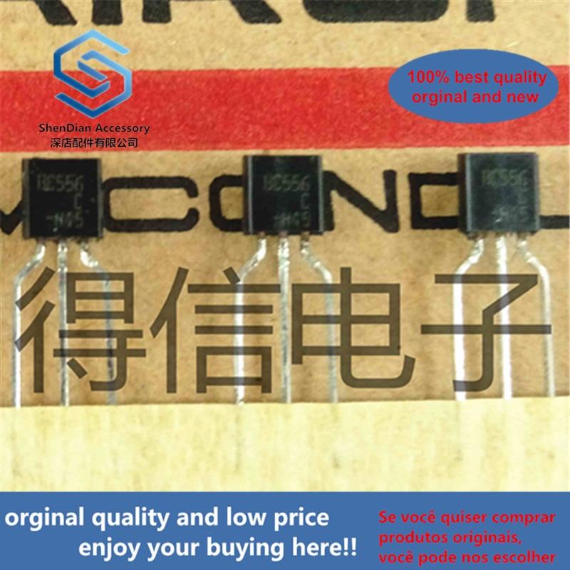 50pcs 100% Orginal New BC556C BC556 TO-92 PNP Silicon Planar Epitaxial Transistors Real Photo