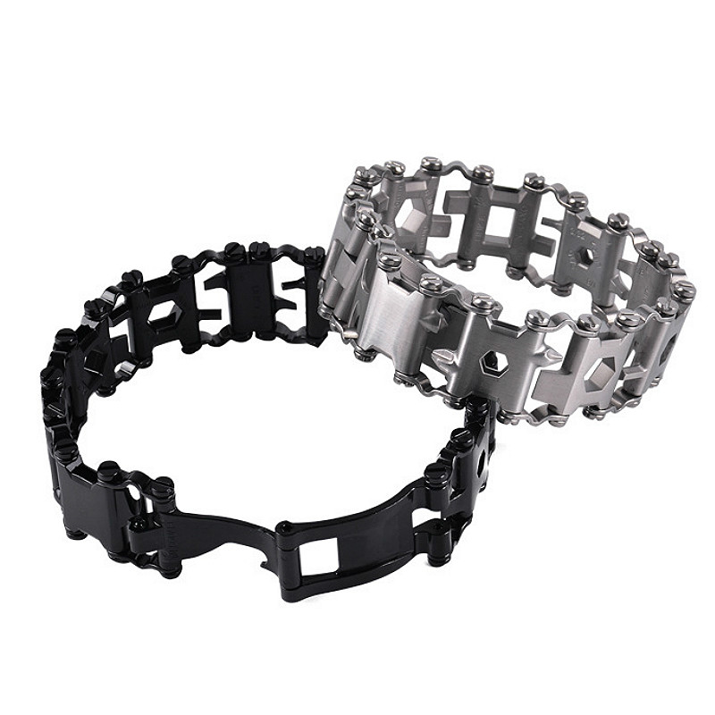 Tools : Wearable Tread 3cm 29 In 1 Multi Tool Bracelet Strap Multi-function Screwdriver Outdoor Emergency Kit Field Survival Bracelet