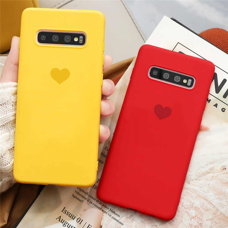 Color Heart TPU Case For Samsung Galaxy A21S A01 A10 A20 A30 A40 A50 A70 A11 A31 A41 A91 A51 A71 S10 S8 S9 S20 Plus Ultra Coque image