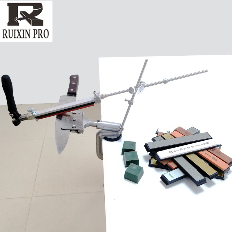 new RUIXIN 4 generations Fixed angle sharpener Metal Material knife sharpening system Sharpening stone With stones