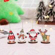 Папка для сообщений фото клип Рождественский подарок украшение для рождественской вечеринки 1 шт. креативная Рождественская визитная карточка украшение Бода# A