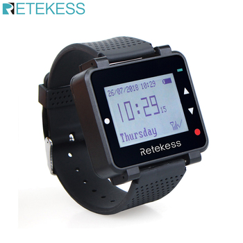 Retekess T128 Watch Receiver Wireless Restaurant Pager Waiter Calling System Customer Service for Office Factory Clinic
