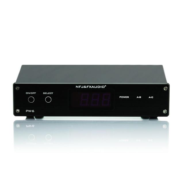 חדש FX אודיו PW 6 Amplificador HIFI דיגיטלי אודיו מגבר Switcher Spiltter בורר מוצלב 2 דרך רמקול Amp ממיר