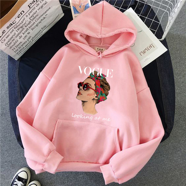 2021 Fashion VOGUE Princess Hoodies Women Harajuku Sweatshirt Streetwear Hoodie Female Pullovers Kawaii Clothing Aesthetic 4