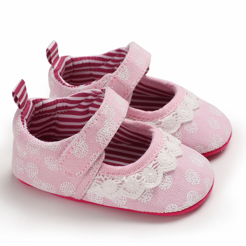 Newborn Shoes Baby Girl Infant  Cotton Fabric 0-18 Months Infant Baby Shoes Girl First Walkers Toddler Girl Moccasins Crib Shoes