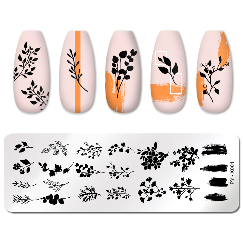PICT YOU 12*6cm Nail Art Templates Stamping Plate Design Flower Animal Glass Temperature Lace Stamp Templates Plates Image 6