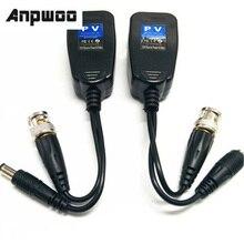 Anpwoo 5 pares cctv coaxial bnc vídeo power balun transceptor para cat5e 6 conector rj45