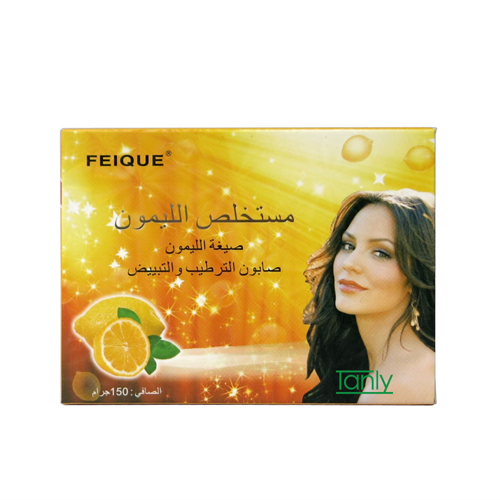 Feique полностью натуральный растительный формула лимон отбеливание против веснушек обновление мыло 130 г на шт.