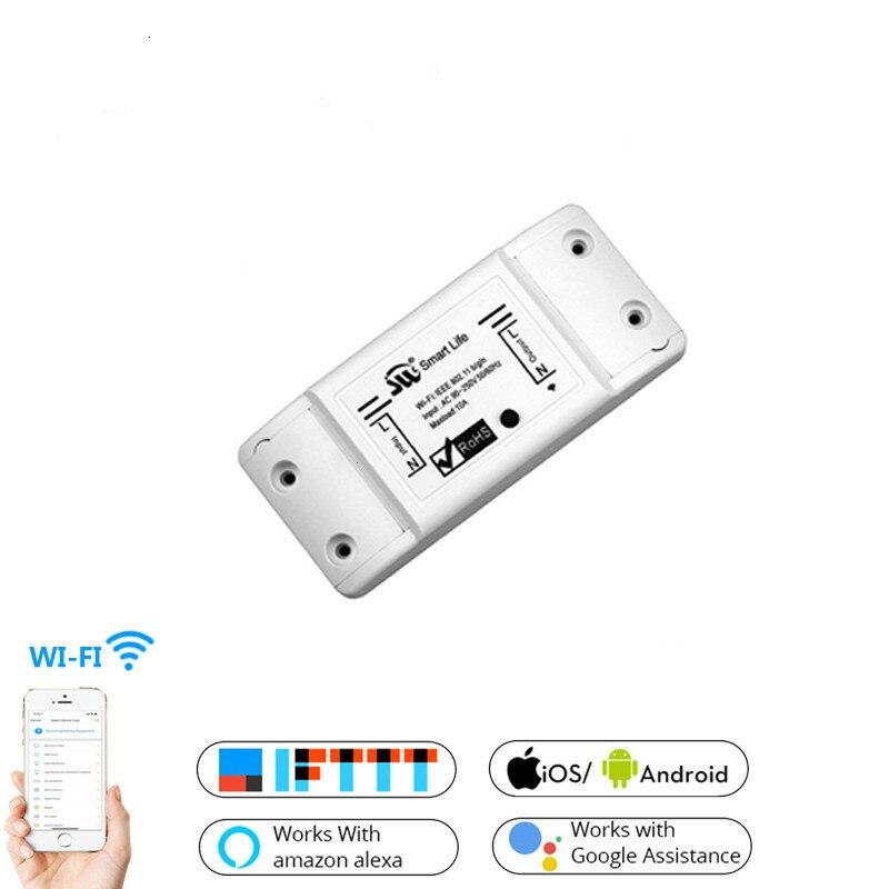 WiFi Smart Light Switch Universal Breaker For Smart Life APP Alexa Google Home