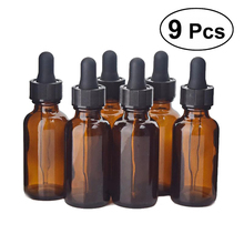 9pcs Essential Oil Bottle Homemade Cosmetic Sub-Bottle With Dropper Lid DIY Mix Supplies Tool Accessories