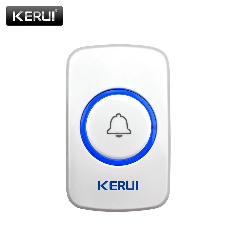 KERUI Doorbell Button F52 F51 Waterproof Wireless Touch Smart Receiver Home Gate Security Doorbell Panic SOS Emergency Button