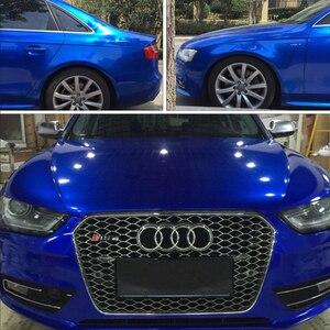 Image 5 - Top quality 10/20/30/40/50/60X152CM/Lot Blue Glossy Metallic Glitter Car Sticker for car wraps Glossy Candy Vinyl Film