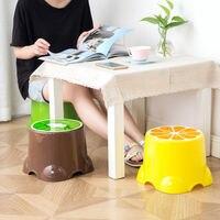 Stołek plastikowy dla dzieci niski stołek stołek domowy dla dzieci śliczne małe ławki okrągły stołek dla dorosłych shou na zhuo podnóżek na