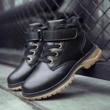 Children Boot Kids Boots boy Winter Boys Student Martin Retro Genuine Leather Fashion Riding Snow