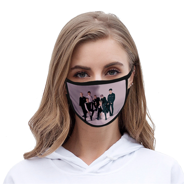 Adult Children's Mask Fashion Kpop Member Sport Hip Hop 3d Mask Washable Dustproof Face Mask Reusable Fabric Anti Pollution Mask 1