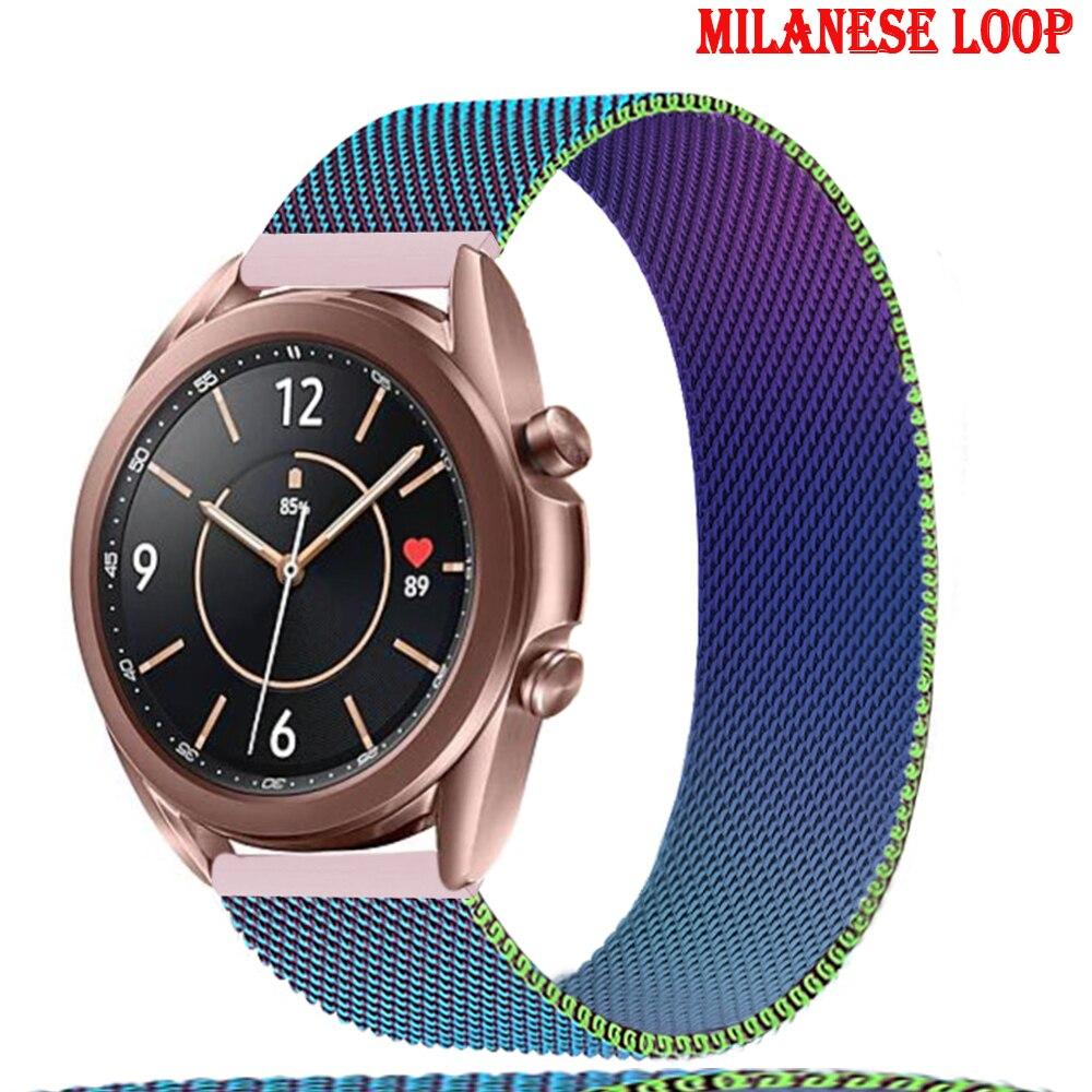 Ремешок магнитный для Samsung Galaxy watch 3 45 мм 41 мм/Active 2 46 мм/42 мм Gear S3, браслет для часов Huawei GT/2/2e 20 мм/22 мм