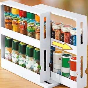 Kitchen Storage Organizer Rack-Holder Cabinet Rotating-Jars Spice-Rack Multifunction