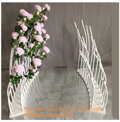 Decoration Of A Fence S Wedding With Props Variety Shaped Guide Line Spectrum Arc Background PVC Stage Round New Stage T