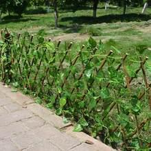 Clôture de jardin à treillis extensible, clôture intérieure, plante de jardin artificielle, protection de l'écran extérieur, usage privé, F6Q7