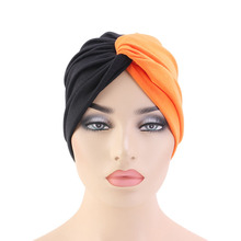New fashion Women Bohemian turban twist head wrap headscarf chemo cap  Muslim Turban Headband Turbante