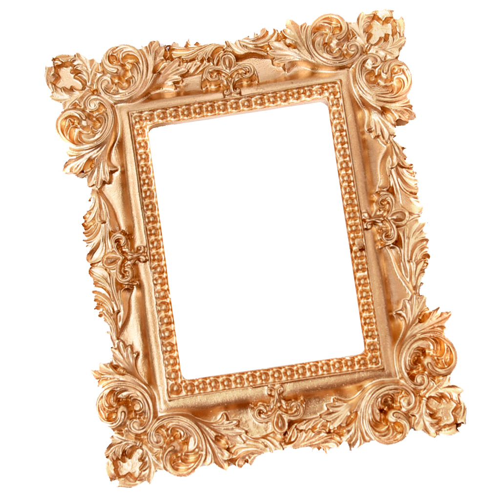 Retro Charming Resin Mini Chic Photo Frame Jewelry Wall Mount Display Organizers