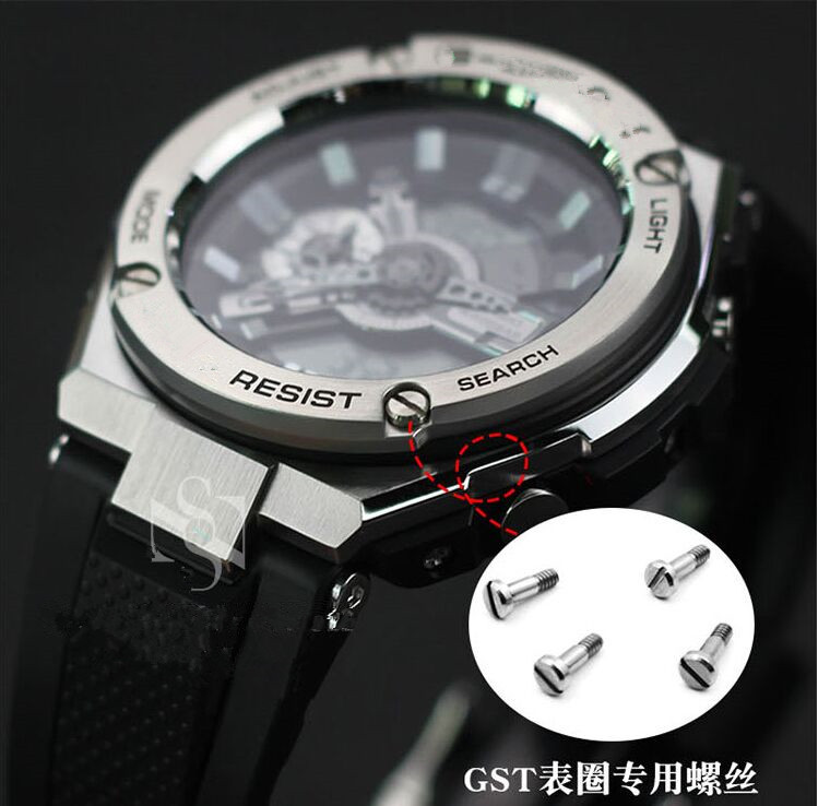 Stainless Steel GST-S110/S100/W100/S120/S130 Watch Bezel And Screws