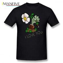 лучшая цена Plants Vs Zombies T Shirt Plants Vs Zombies I Love You T-Shirt Graphic Summer Tee Shirt Oversized 100 Percent Cotton Tshirt