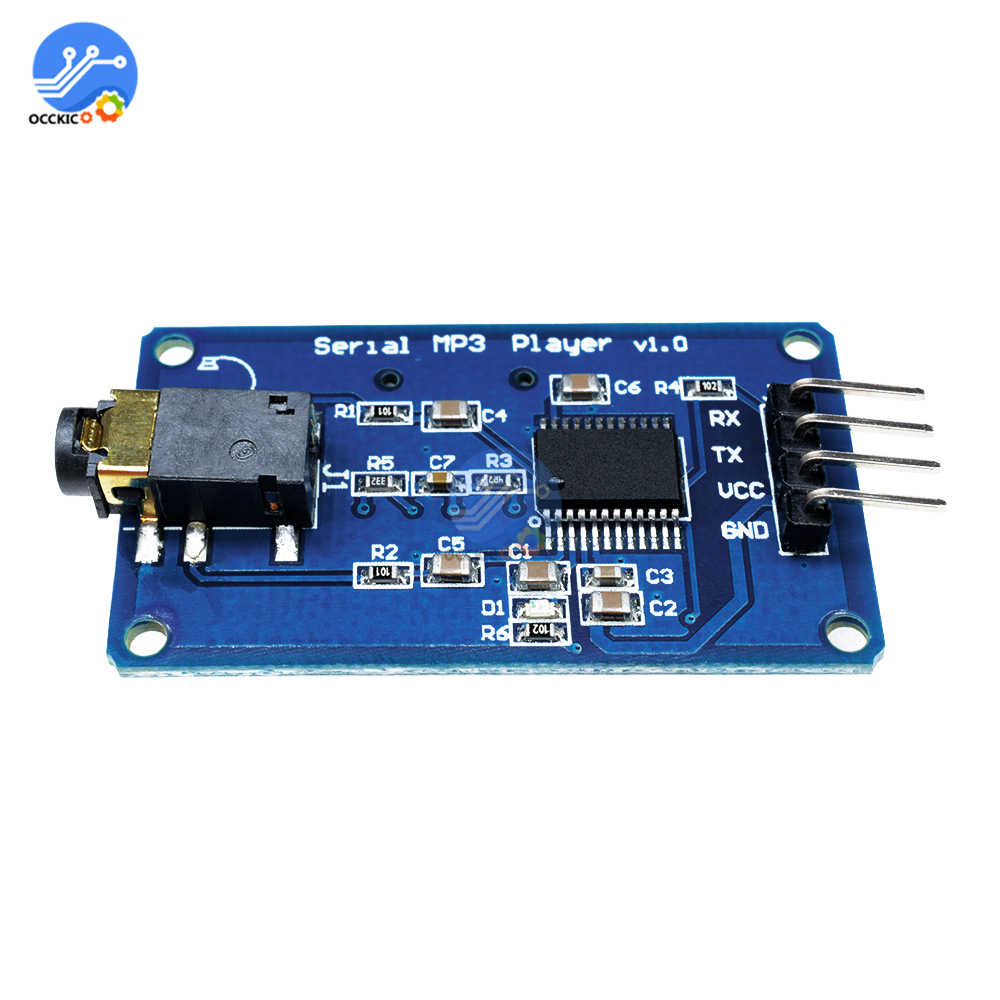 MP3 Decoder Dac Module Board YX5300 UART Control Serial MP3 Player Module For Arduino/AVR/ARM/PIC CF Audio Spectrum Analyzer
