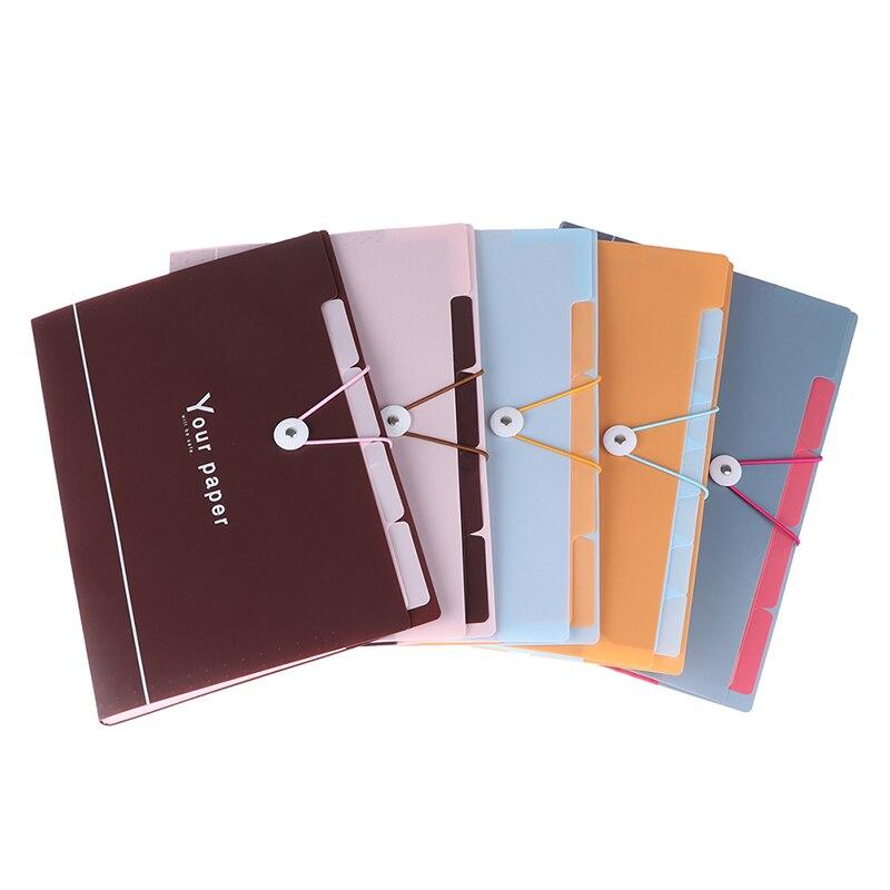 5 Grid Document Bag File Folder Portable Organ Bag A4 Organizer Paper Holder