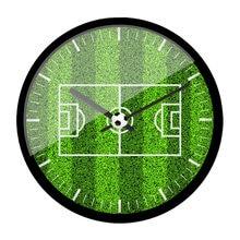 Креативные настенные часы для футбольного поля гостиной креативные