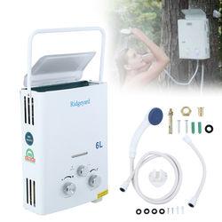 6L GLP Gas propano calentador de agua sin tanque baño instantáneo con cabeza de ducha calentador de agua caliente caldera calorificador envío UE