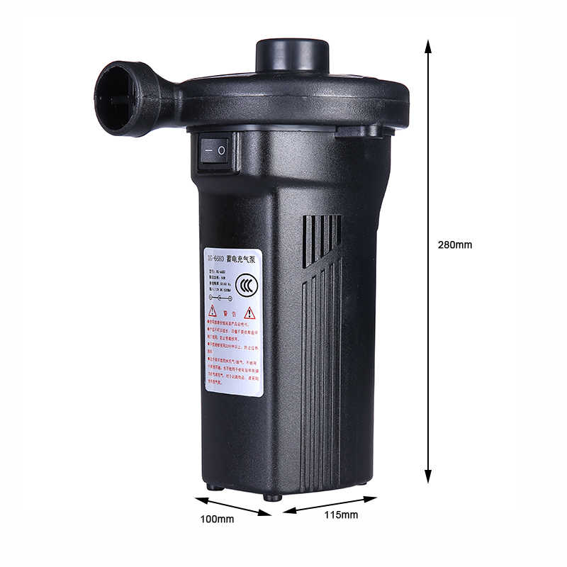 Bomba de aire eléctrica recargable colchón de aire eléctrico bomba de Camping portátil de llenado rápido bomba inflable para el uso en el hogar del coche