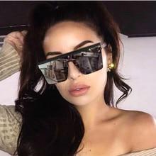 Flat Top Oversized Sunglasses Women Rimless Shades Sun glass