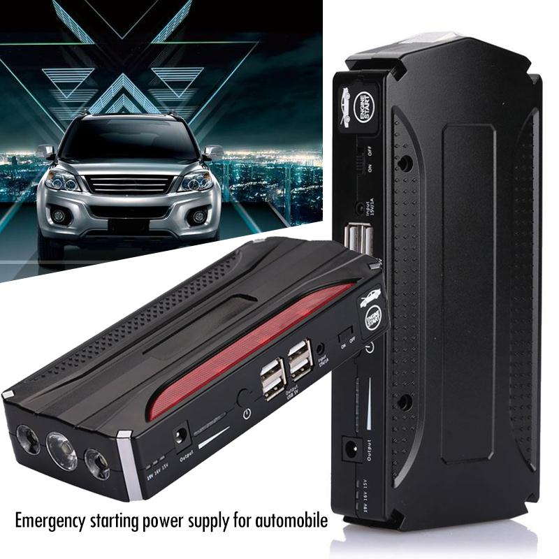 4USB Car Jump Starter Kit Emergency Jump Starter Kit Power Bank Power Kit For Outdoor Automobile Booster Charger  No Battery