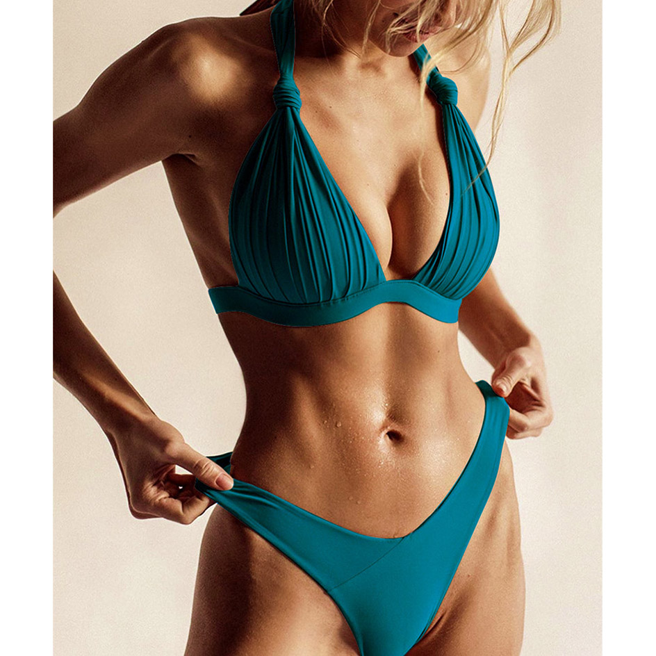 Sexy Black White Bikini 2020 Push Up Swimsuit Women Swimwear Thong Bikinis Set Beachwear Swim Wear Bathing Suit Woman Swimsuits